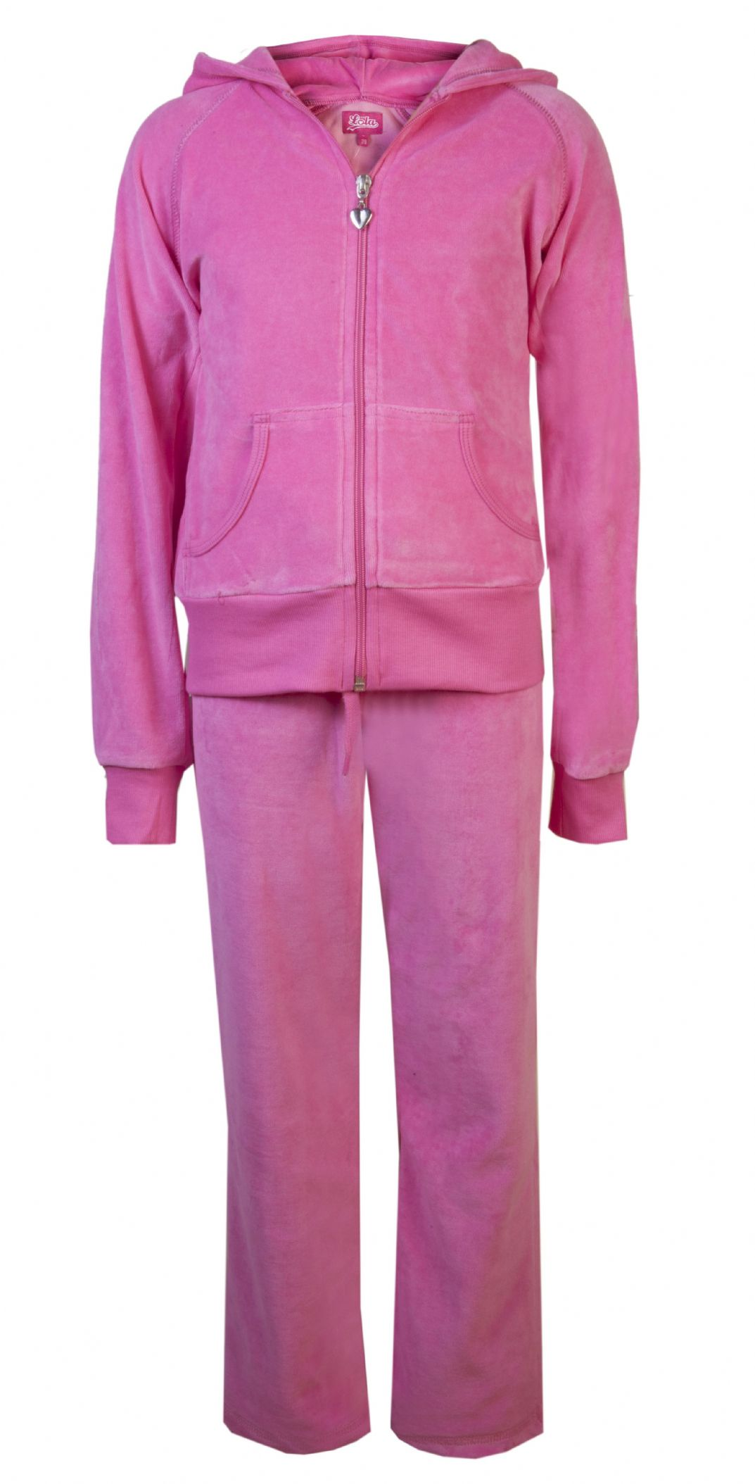 Love Lola Children s Velour Tracksuits Hot Pink
